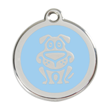 Red Dingo Stainless Steel & Enamel Happy Dog ID Tag