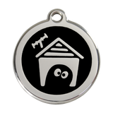 Red Dingo Stainless Steel & Enamel Dog House Dog ID Tag