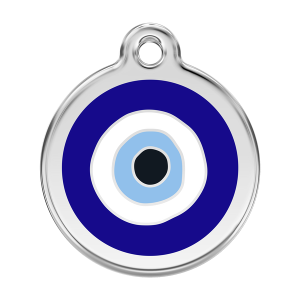 Red Dingo Stainless Steel & Enamel Evil Eye Dog ID Tag
