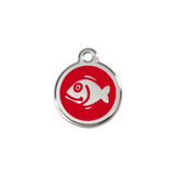 Red Dingo Stainless Steel Happy Fish Cat ID Tag
