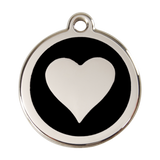 Red Dingo Stainless Steel & Enamel Heart Dog ID Tag