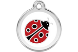 Red Dingo Stainless Steel & Enamel Ladybug Dog ID Tag