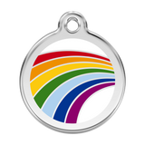 Red Dingo Stainless Steel & Enamel Rainbow Dog ID Tag