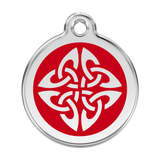 Red Dingo Stainless Steel & Enamel Tribal Arrows Dog ID Tag