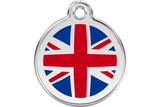 Red Dingo Stainless Steel & Enamel Union Jack Flag Dog ID Tag