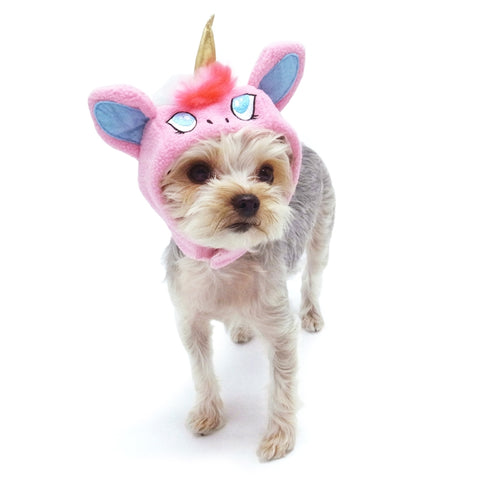 Magical Unicorn (Pink) Hat for Dogs
