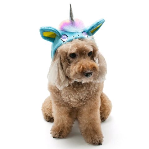 Magical Unicorn (Blue) Hat for Dogs