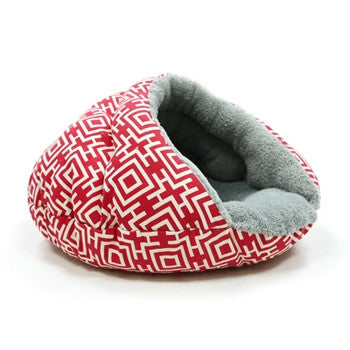 Burger Bed Small Dog Snuggle Bed - Modern Red