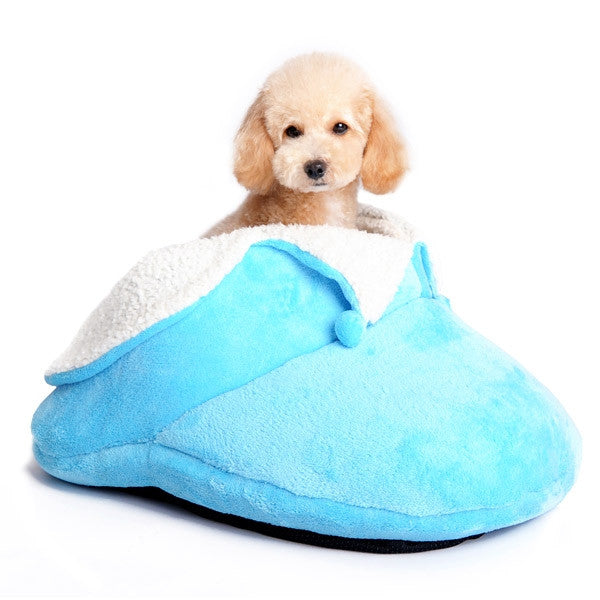 Super Snuggle Slipper Dog Bed - Blue
