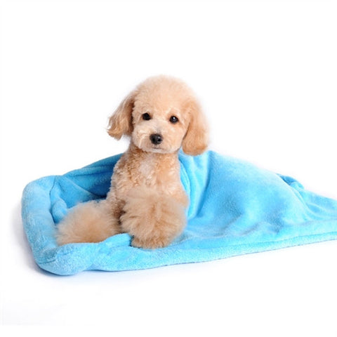 Blanket Bed Super Soft Dog Bed - Blue