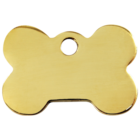 Red Dingo Brass Dog Bone Shaped Dog ID Tag (Double Side Engraving)