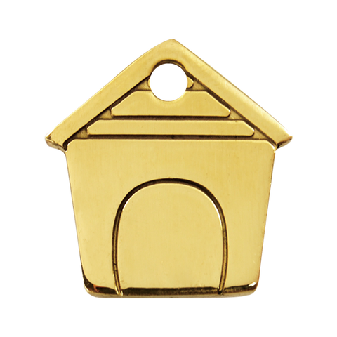 Red Dingo Brass Dog ID Tag - Dog House