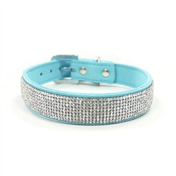 VIP Bling Dog Collar - Blue