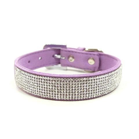 VIP Bling Dog Collar - Purple