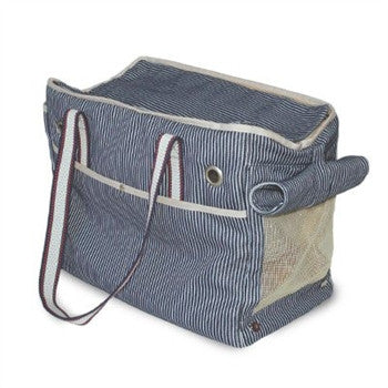 Nautical Stripe Tote Dog Carrier