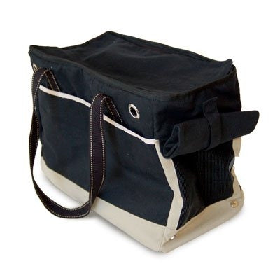 Big Black Tote Canvas Dog Carrier
