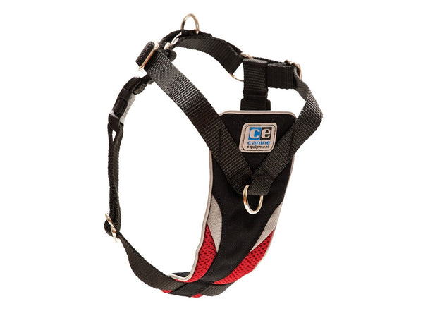 Ultimate Control Dog Harness - Black With Red Trim