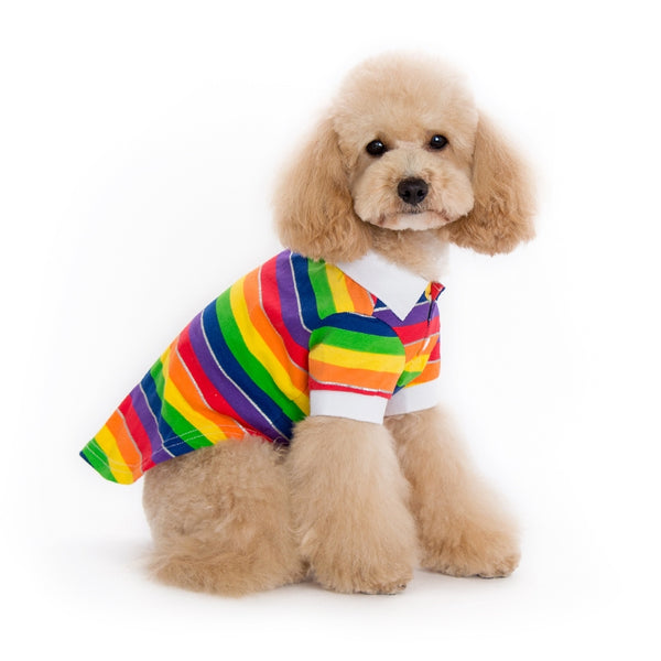 Rainbow Polo Shirt for Dogs
