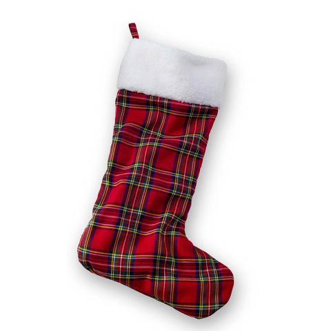 Christmas Stocking For Dogs - Tartan Plaid
