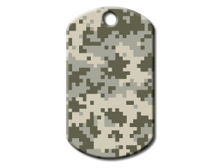 Digital Camouflage Dog Tag - Military Style