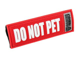 Bark Notes Slide-On Safety Badges for Dog Collars - Do Not Pet