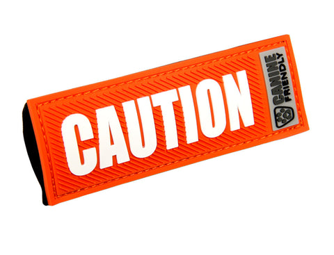 Bark Notes Slide-On Safety Badges for Dog Collars - Caution