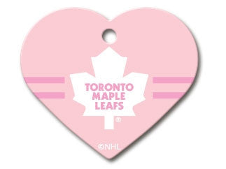 Toronto Maple Leafs NHL Custom Engraved Dog ID Tag - Pink Heart