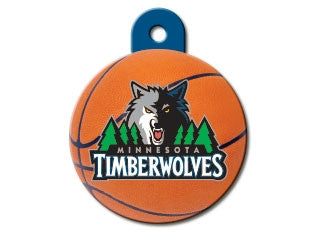 Minnesota Timberwolves NBA Custom Engraved Dog ID Tag - Round