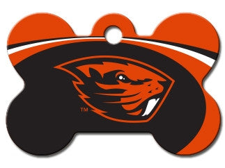 Oregon State Beavers NCAA Custom Engraved Dog ID Tag - Bone