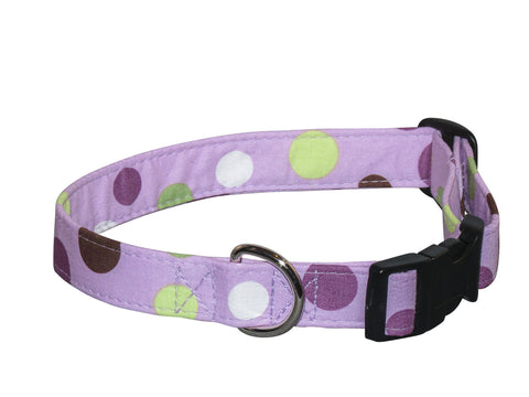Elmo's Closet Purple Hues Dog Collar