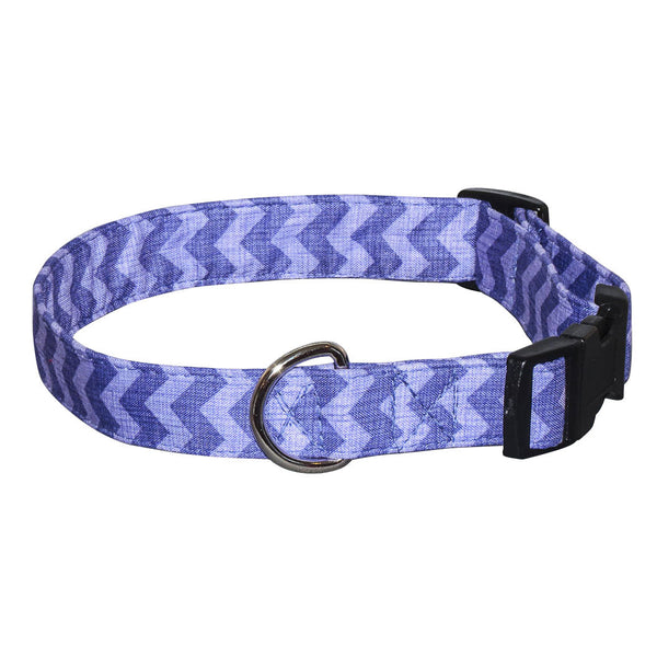 Elmo's Closet Ric Rac Dog Collar - Purple