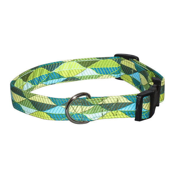 Elmo's Closet Leaf Lines Dog Collar
