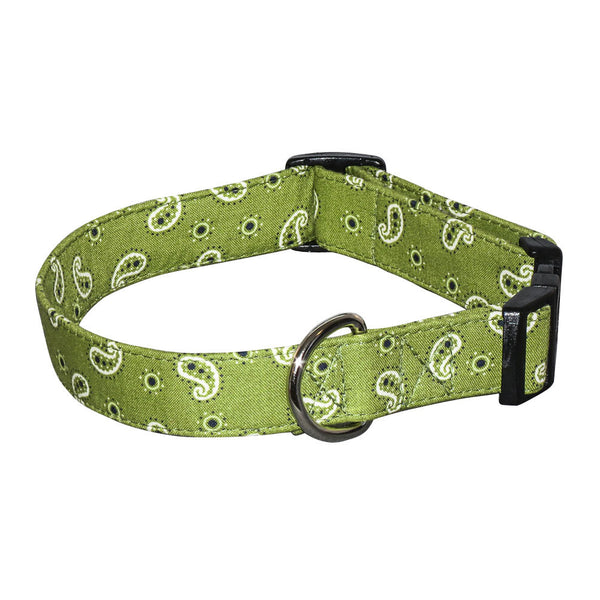 Elmo's Closet Mini Bandana Dog Collar - Green