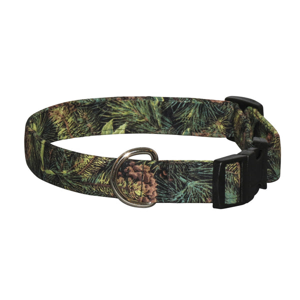 Elmo's Closet Pine Forest Dog Collar
