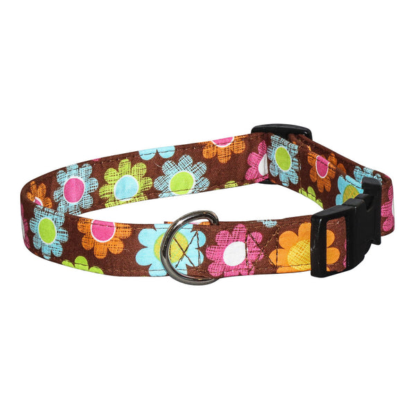 Elmo's Closet Earth Flower Dog Collar
