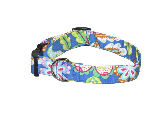 Elmo's Closet Fiesta Flowers Dog Collar