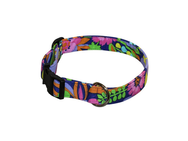Elmo's Closet Floral Punch Dog Collar