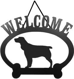 Sweeney Ridge Springer Spaniel Welcome Sign