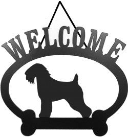 Sweeney Ridge Wheaten Terrier Welcome Sign