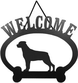 Sweeney Ridge Rottweiler Welcome Sign