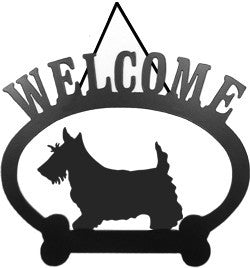 Sweeney Ridge Scottish Terrier Welcome Sign