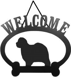 Sweeney Ridge Old English Sheepdog Welcome Sign
