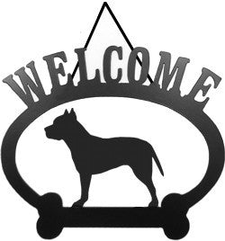 Sweeney Ridge Pit Bull Terrier Welcome Sign