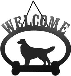 Sweeney Ridge Golden Retriever Welcome Sign
