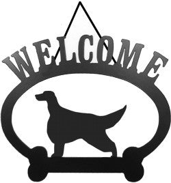 Sweeney Ridge Irish Setter Welcome Sign