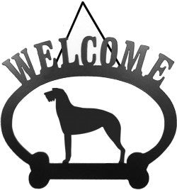 Sweeney Ridge Irish Wolfhound Welcome Sign