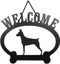 Sweeney Ridge Miniature Pinscher Welcome Sign