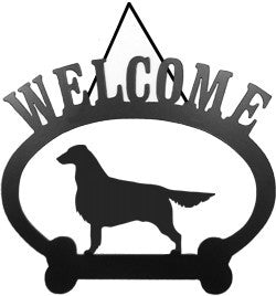 Sweeney Ridge Flat Coated Retriever Welcome Sign