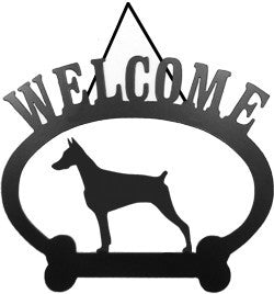 Sweeney Ridge Doberman Welcome Sign