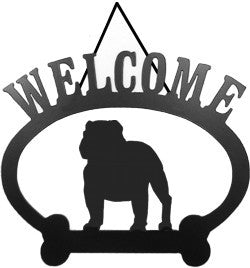 Sweeney Ridge English Bull Dog Welcome Sign